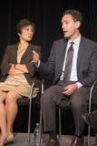 Gordan Whitman speaks with Kathy Ko Chin Royalty Free Stock Photography