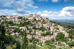 Gordes, захолустный городок вершины холма Стоковое Изображение