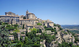 Gordes. A nice view of an ancient village in Provence,France Royalty Free Stock Photos