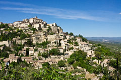 Gordes. The ancient walled city of Gordes rises above the Provençal landscape Royalty Free Stock Photos