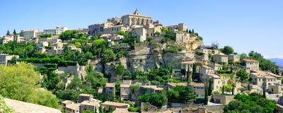 Gordes bypanorama. Luberon Provence Royaltyfria Bilder