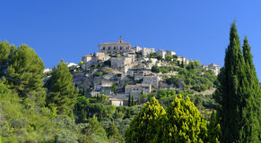 Gordes commune in Provence. Scenic view of Gordes commune in Provence, France Stock Image
