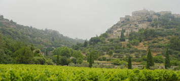 Gordes in fog Royalty Free Stock Photo