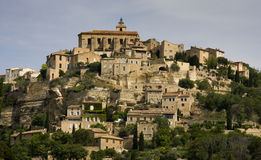 Gordes, France. The hilltop town of Gordes, France Royalty Free Stock Photos