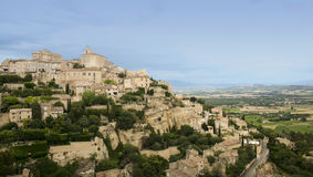 Gordes hilltown provence countryside france Stock Images