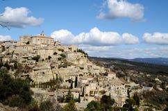 Gordes i Luberon, sydliga Frankrike Arkivfoton