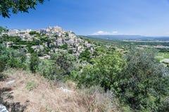 Gordes medeltida stad Provence Frankrike Arkivbilder