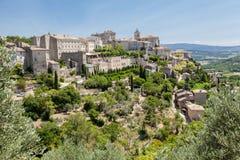 Gordes medeltida stad Provence Frankrike Arkivfoto