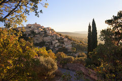 Gordes medieval famous village sunrise view, Provence, France Royalty Free Stock Image