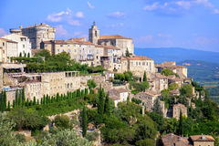 Gordes, a medieval hilltop town in Provence, France. Gordes, a picturesque medieval hilltop town in southern France, Provence stock images