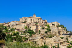Gordes medieval village in Southern France Royalty Free Stock Photos