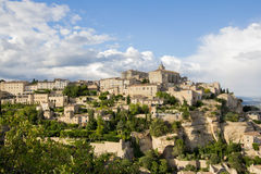 Gordes, one of the most beautiful and most visited French villages royalty free stock photography
