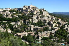 Gordes panorama. In south France royalty free stock photos
