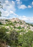 Gordes, Pearl of the Luberon. On the foothills of the Mountains of Vaucluse, facing the Luberon, Gordes is one of the most well-known hilltop villages in France Stock Photos
