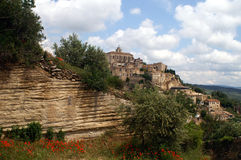 Gordes in Provence, France. Village Gordes situated on a hill in the Provence, France Stock Photography