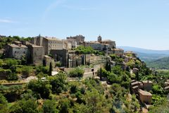 The city of Gordes in the Vaucluse, France. stock photo