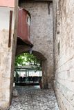 Gordes ulica, Luberon, Provence, Francja, set film Zdjęcia Royalty Free