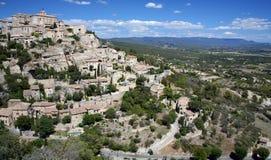 Gordes - une ville de sommet dans les Frances Image libre de droits