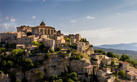 Gordes Hill. View of Gordes hill in Provence France Stock Photos
