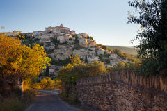 Gordes village panorama at sunrise, Provence, France Stock Images