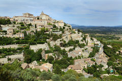 Gordes village on sunset , Provance. France Royalty Free Stock Image