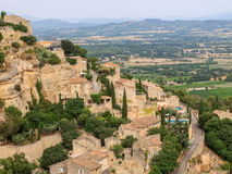Gordes w południe Francja, powabny miasteczko Zdjęcia Royalty Free