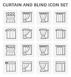 Gordijn blind pictogram stock illustratie