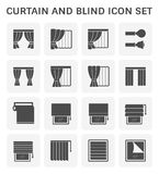 Gordijn blind pictogram royalty-vrije illustratie