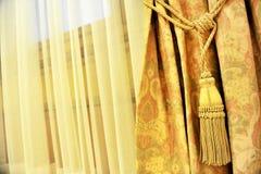 Gordijn decoratieve leeswijzer Royalty-vrije Stock Foto