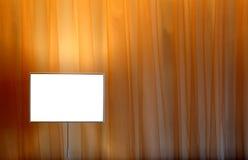 Gordijn en lamp Stock Foto