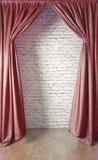 Gordijn en muur Royalty-vrije Stock Foto's