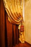 Gordijn met een ornament royalty-vrije stock foto
