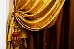 Gordijn met een ornament Stock Afbeeldingen