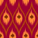 Gordijn van het Ikat het bruine vector naadloze patroon, textielontwerp, bedlinnen, behang, de achtergrond van de oppervlaktetext Royalty-vrije Stock Afbeeldingen