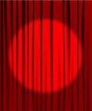 Gordijn van het theater met een schijnwerper vector illustratie