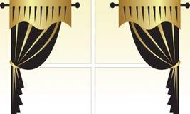 Gordijnen Royalty-vrije Stock Afbeelding