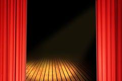 Gordijnen in rood Royalty-vrije Stock Afbeeldingen