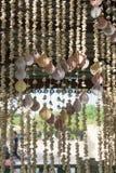 Gordijnen van shells Royalty-vrije Stock Afbeeldingen