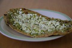 Gordita ou molho mexicano com molho verde Imagem de Stock Royalty Free