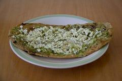 Gordita ou molho mexicano com molho verde Imagem de Stock