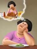 Gordo stock de ilustración