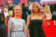 Gordon and Arkharova at Moscow Film Festival Stock Photos