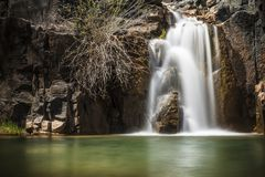 Gordon Creek Falls op de Mongollon-Rand in Arizona stock afbeelding