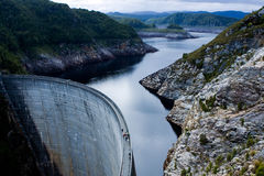 Gordon Dam in Tasmania Royalty Free Stock Images