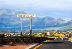 Gordon Podpalany drogowy znak Zdjęcie Royalty Free
