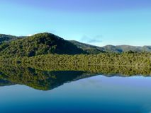 Gordon River. The Gordon River is one of our natural wonders and an amazing location for a wilderness cruise. From deep within the Tasmanian Wilderness World Stock Images