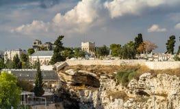 Gordon`s Calvary and Skull Hill, Jerusalem Royalty Free Stock Photography