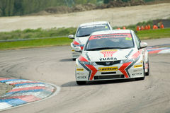 Gordon Shedden. THRUXTON, UNITED KINGDOM - MAY 1, 2011: Gordon Shedden, driving a Honda Racing Civic heading for victory in race one of the British Touring Car Stock Photos