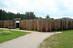 Gordon Stockade. The Gordon Stockade is part of Custer State Park in South Dakota, USA. The stockade marks an important part of the state's history. The original royalty free stock photos