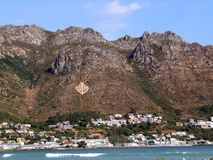 The Gordons Bay anchor symbol. The famous Gordons Bay landscape symbol, in the Cape, South Africa. Copy space Royalty Free Stock Image